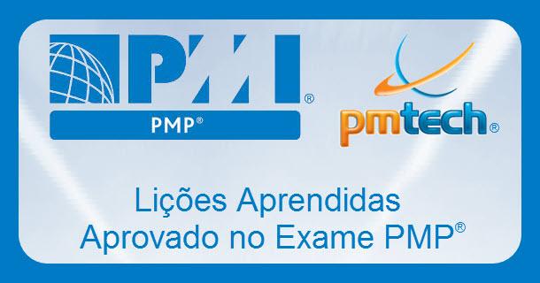 Lições aprendidas aprovado PMP